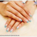 [光療指甲] Calgel 夏日海軍藍光療漸層指甲