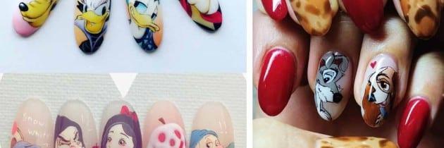♥ 充滿夢想的迪士尼!卡通手繪凝膠指甲