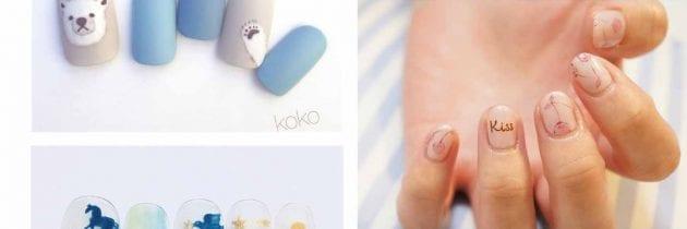 ♥ 指彩小品。手繪凝膠指甲的小清新